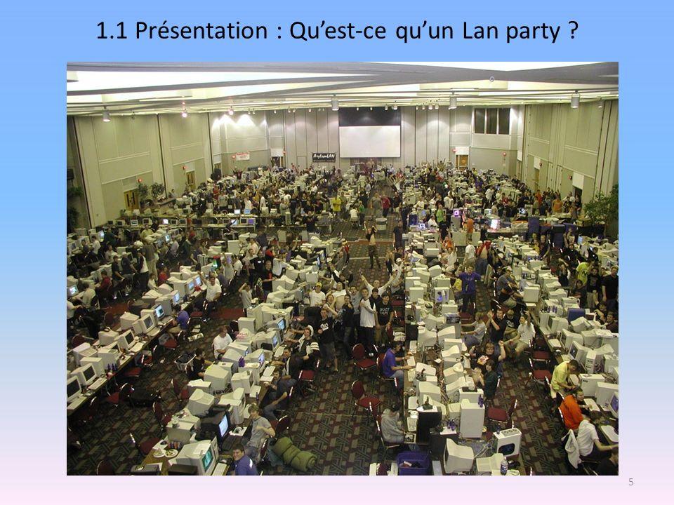 1.1 Présentation : Quest-ce quun Lan party ? 5