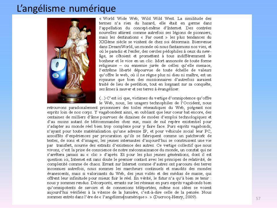 Langélisme numérique 57