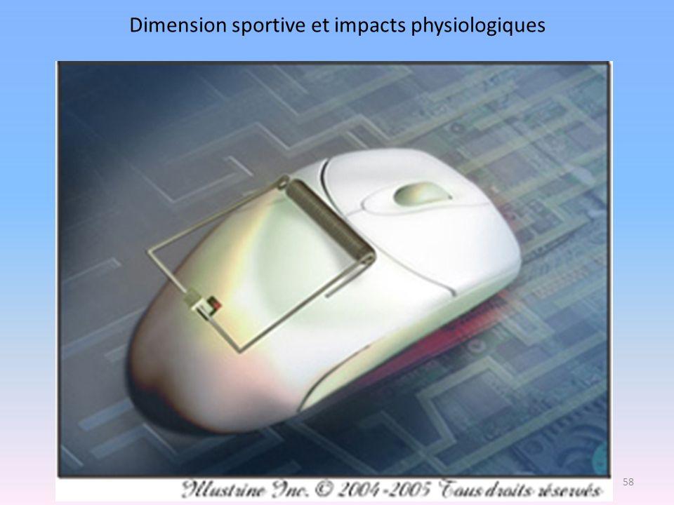 Dimension sportive et impacts physiologiques 58