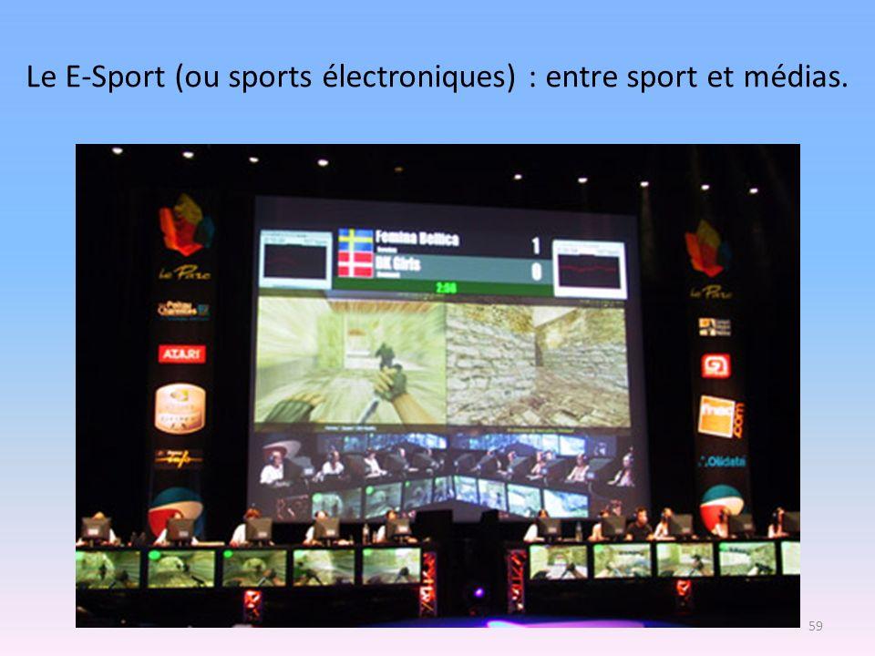 Le E-Sport (ou sports électroniques) : entre sport et médias. 59
