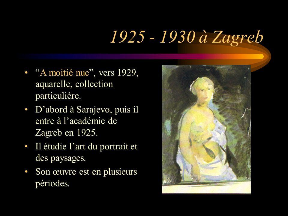 Evolution de son art La première va de 1926 à 1941 où il a le don dêtre un merveilleux coloriste.