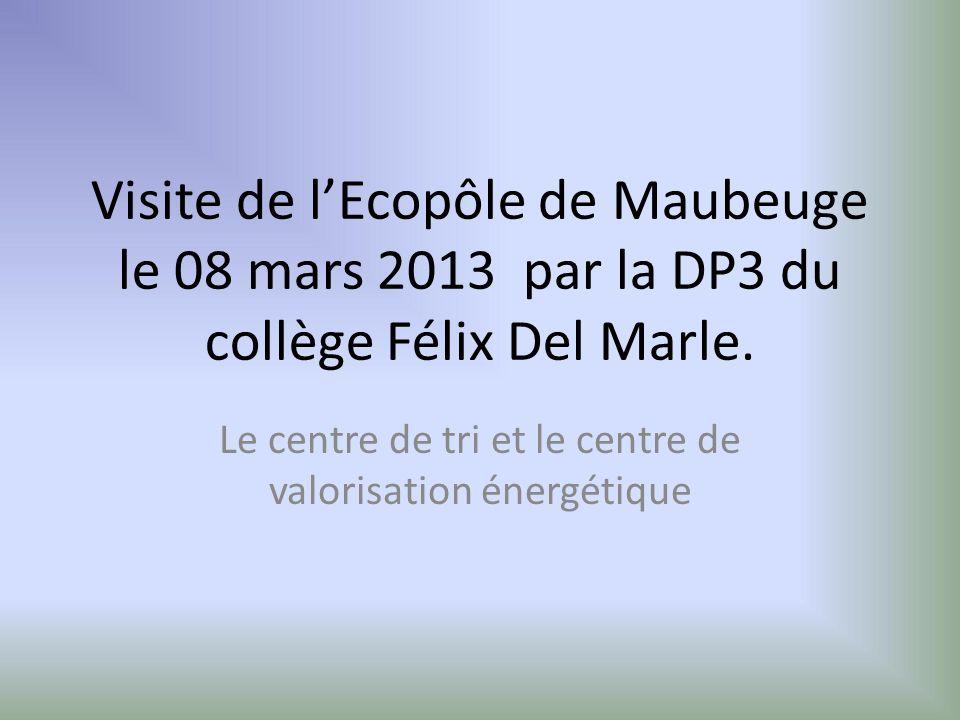 Visite de lEcopôle de Maubeuge le 08 mars 2013 par la DP3 du collège Félix Del Marle.