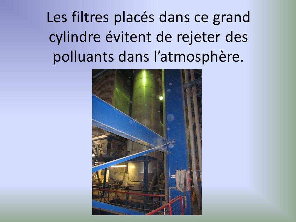 Les filtres placés dans ce grand cylindre évitent de rejeter des polluants dans latmosphère.