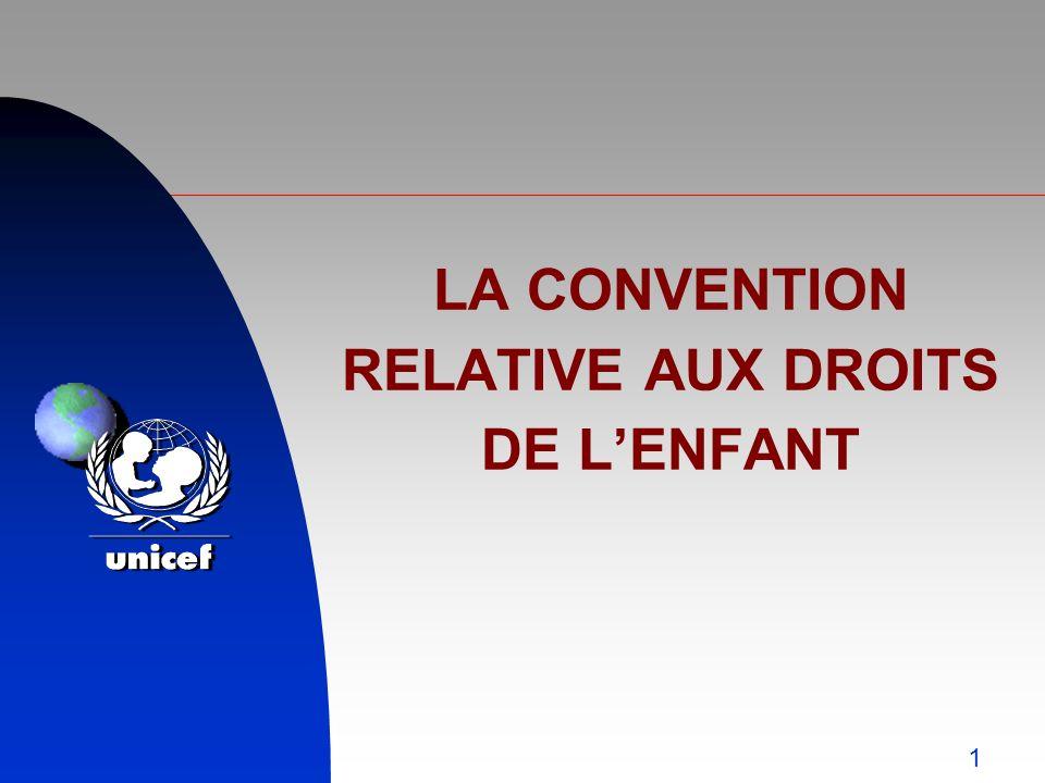 1 LA CONVENTION RELATIVE AUX DROITS DE LENFANT