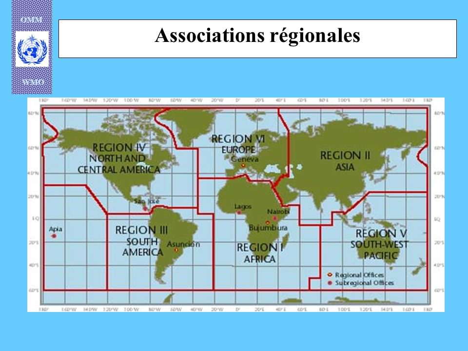 OMM WMO Associations régionales
