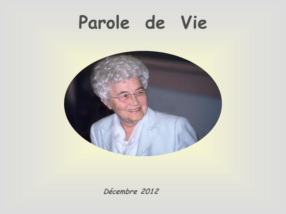 Parole de Vie Décembre 2012