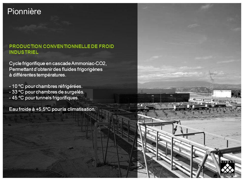 PRODUCTION CONVENTIONNELLE DE FROID INDUSTRIEL Cycle frigorifique en cascade Ammoniac-CO2, Permettant dobtenir des fluides frigorigènes à différentes températures.