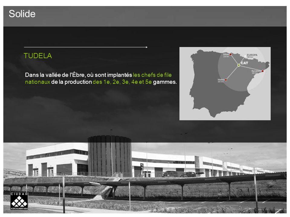 TUDELA Dans la vallée de l Èbre, où sont implantés les chefs de file nationaux de la production des 1e, 2e, 3e, 4e et 5e gammes.