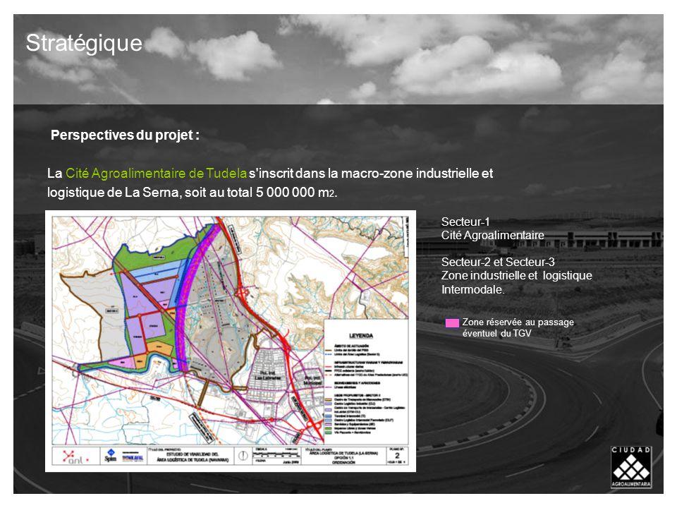 Perspectives du projet : La Cité Agroalimentaire de Tudela s inscrit dans la macro-zone industrielle et logistique de La Serna, soit au total 5 000 000 m 2.