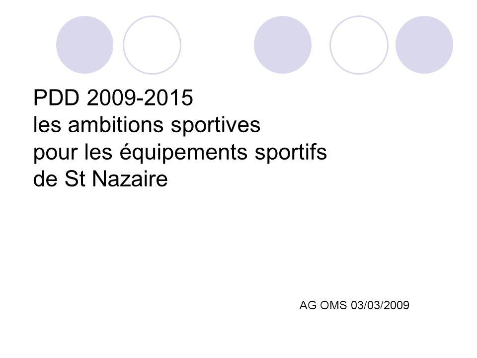 PDD 2009-2015 les ambitions sportives pour les équipements sportifs de St Nazaire AG OMS 03/03/2009