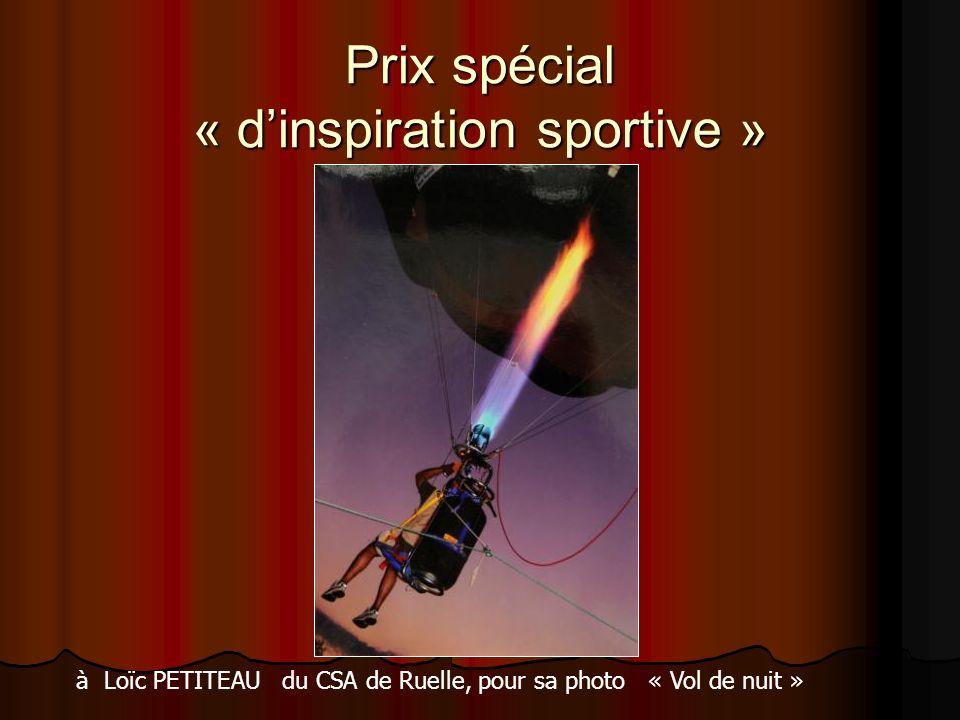 Prix spécial « dinspiration sportive » à Loïc PETITEAU du CSA de Ruelle, pour sa photo « Vol de nuit »