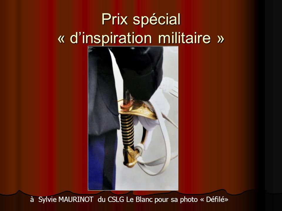 Prix spécial « dinspiration militaire » à Sylvie MAURINOT du CSLG Le Blanc pour sa photo « Défilé»