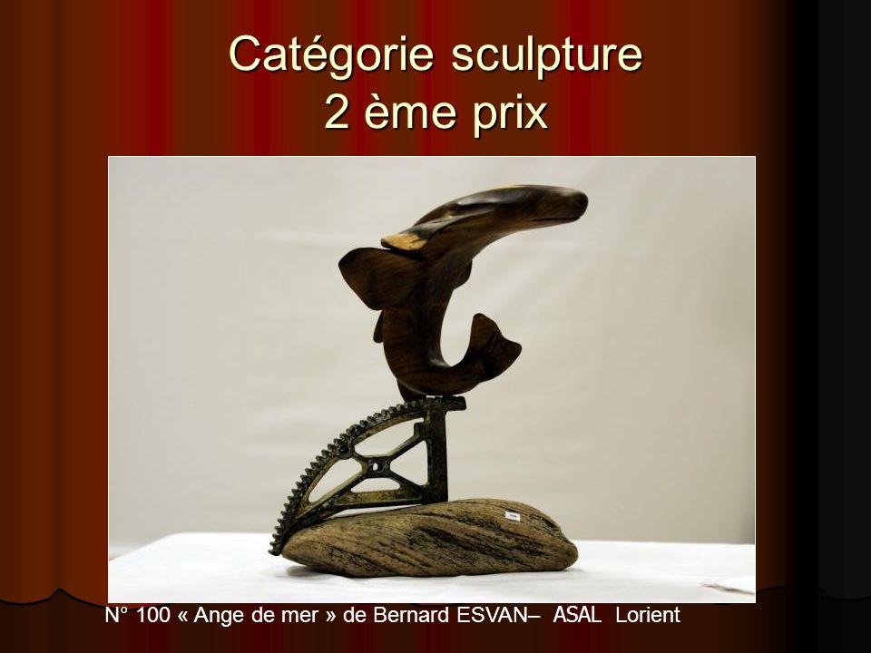 Catégorie sculpture 2 ème prix N° 100 « Ange de mer » de Bernard ESVAN– ASAL Lorient