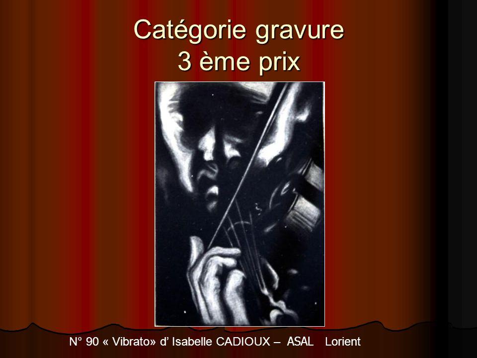 Catégorie gravure 3 ème prix N° 90 « Vibrato» d Isabelle CADIOUX – ASAL Lorient