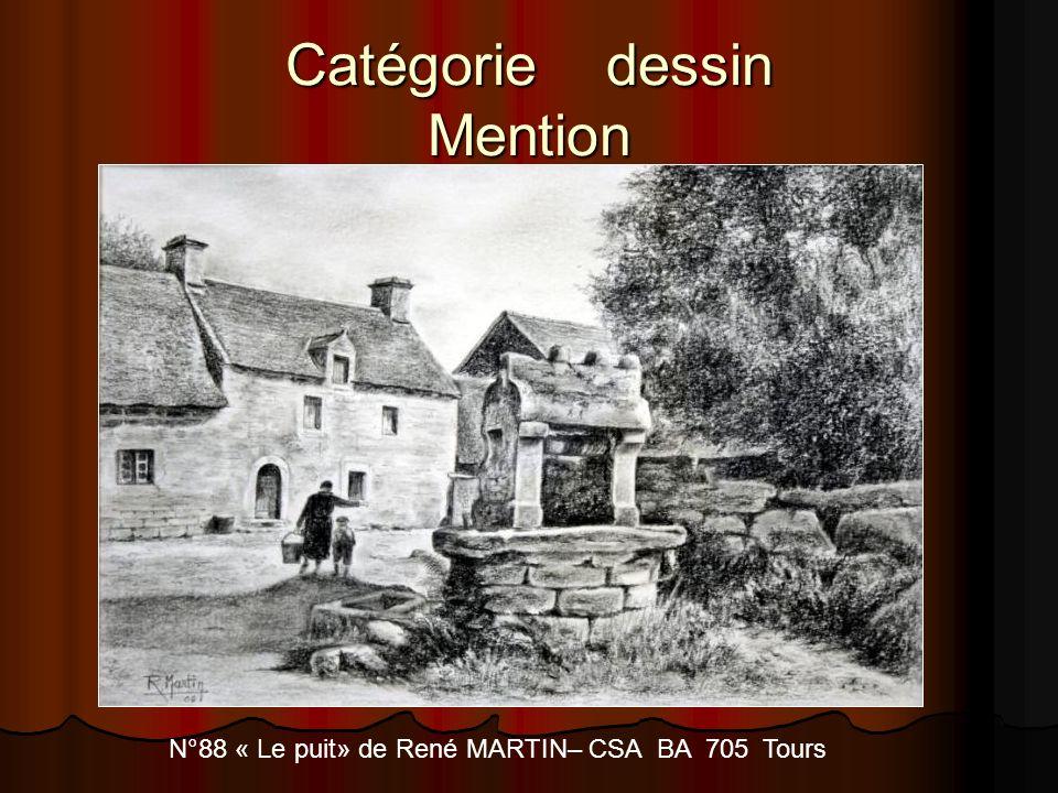 Catégorie dessin Mention N°88 « Le puit» de René MARTIN– CSA BA 705 Tours