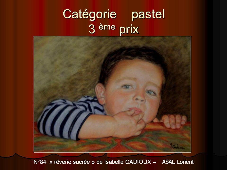 Catégorie pastel 3 ème prix N°84 « rêverie sucrée » de Isabelle CADIOUX – ASAL Lorient