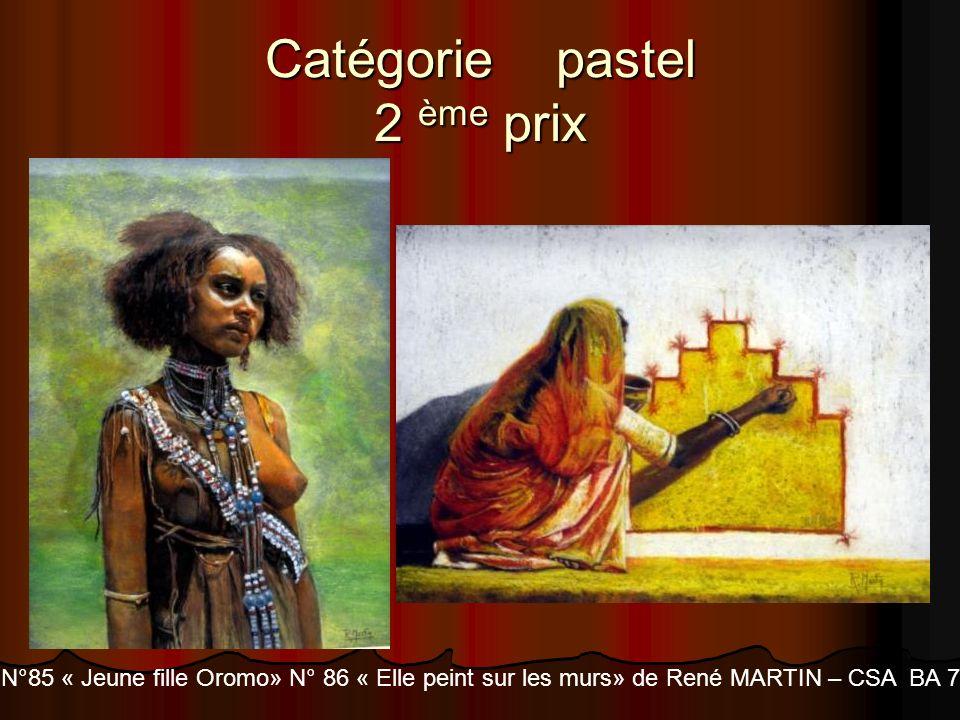 Catégorie pastel 2 ème prix N°85 « Jeune fille Oromo» N° 86 « Elle peint sur les murs» de René MARTIN – CSA BA 705 Tours