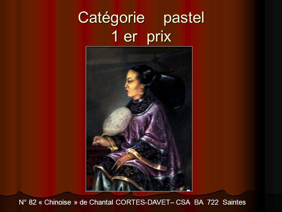 Catégorie pastel 1 er prix N° 82 « Chinoise » de Chantal CORTES-DAVET– CSA BA 722 Saintes