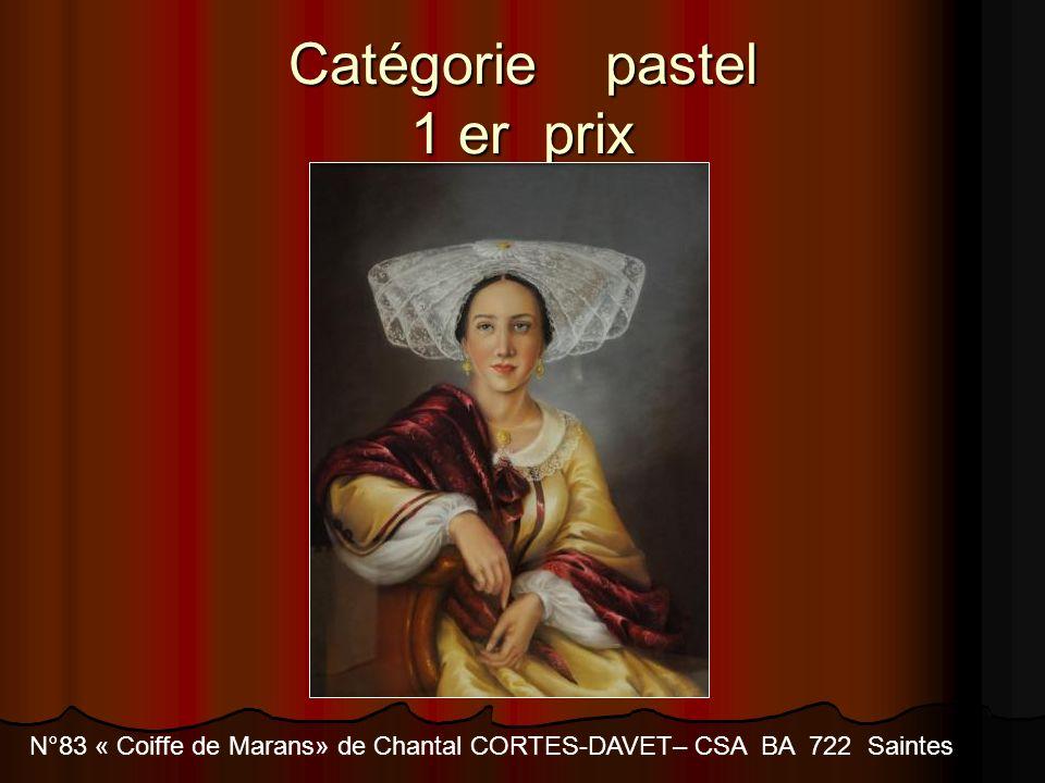Catégorie pastel 1 er prix N°83 « Coiffe de Marans» de Chantal CORTES-DAVET– CSA BA 722 Saintes