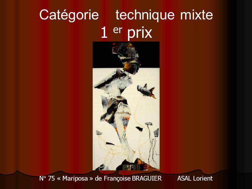 Catégorie technique mixte 1 er prix N° 75 « Mariposa » de Françoise BRAGUIER ASAL Lorient