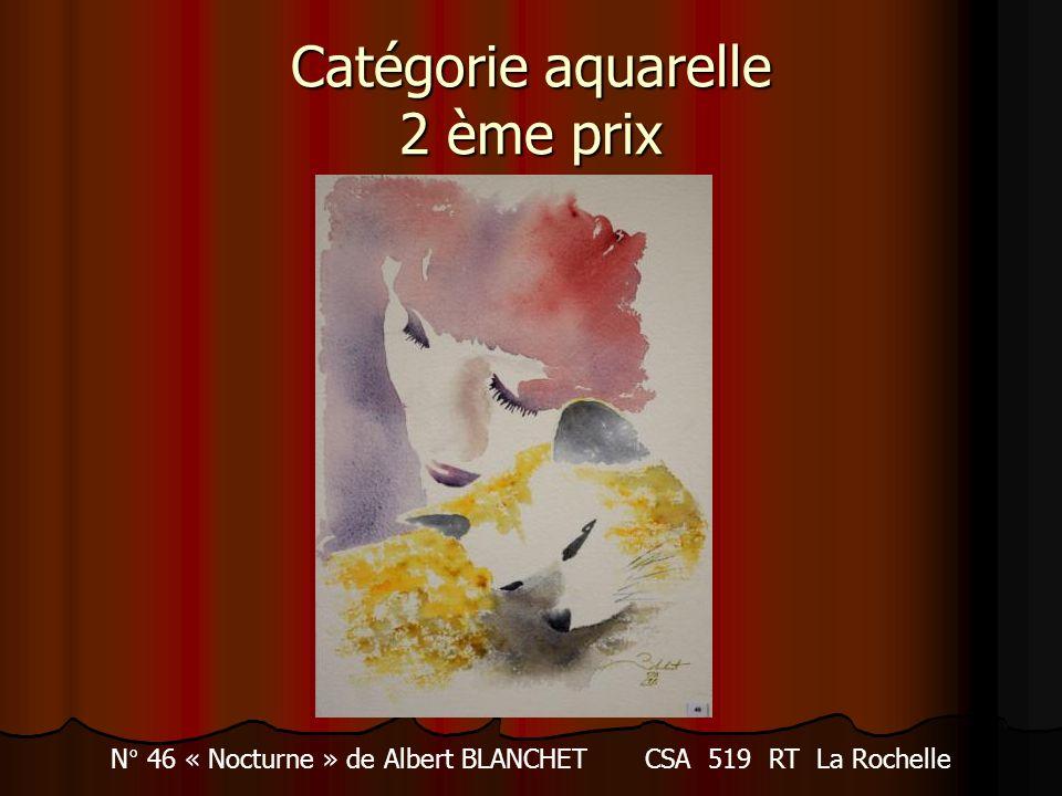 Catégorie aquarelle 2 ème prix N° 46 « Nocturne » de Albert BLANCHET CSA 519 RT La Rochelle