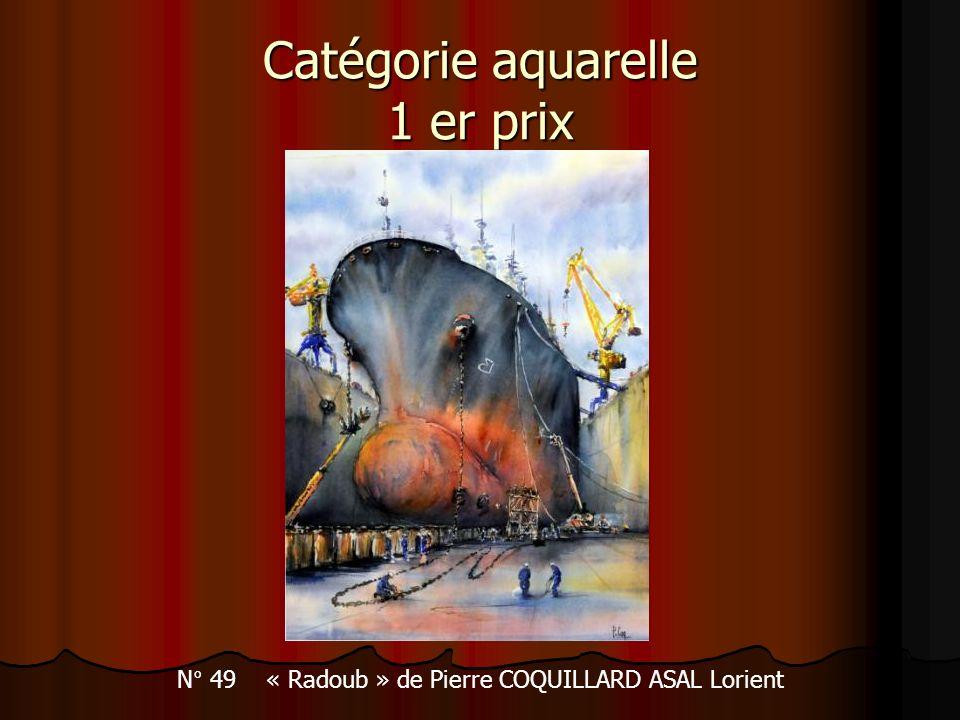 Catégorie aquarelle 1 er prix N° 49 « Radoub » de Pierre COQUILLARD ASAL Lorient