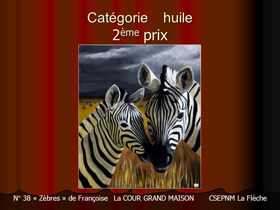 Catégorie huile 2 ème prix N° 38 « Zèbres » de Françoise La COUR GRAND MAISON CSEPNM La Flèche