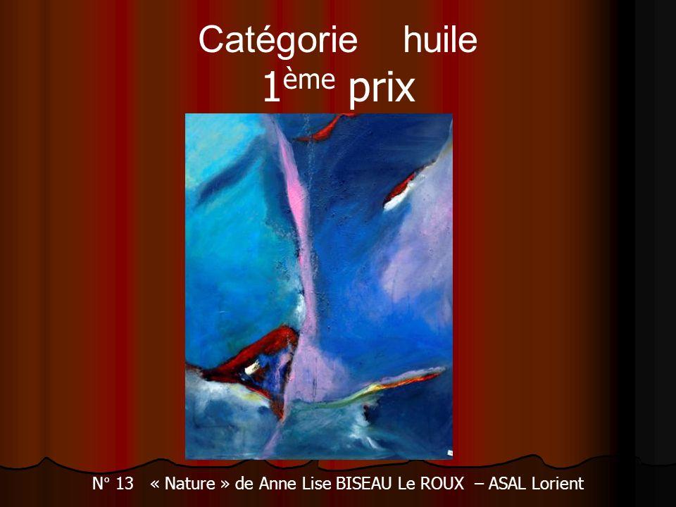 N° 13 « Nature » de Anne Lise BISEAU Le ROUX – ASAL Lorient Catégorie huile 1 ème prix