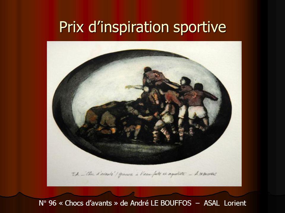 Prix dinspiration sportive N° 96 « Chocs davants » de André LE BOUFFOS – ASAL Lorient