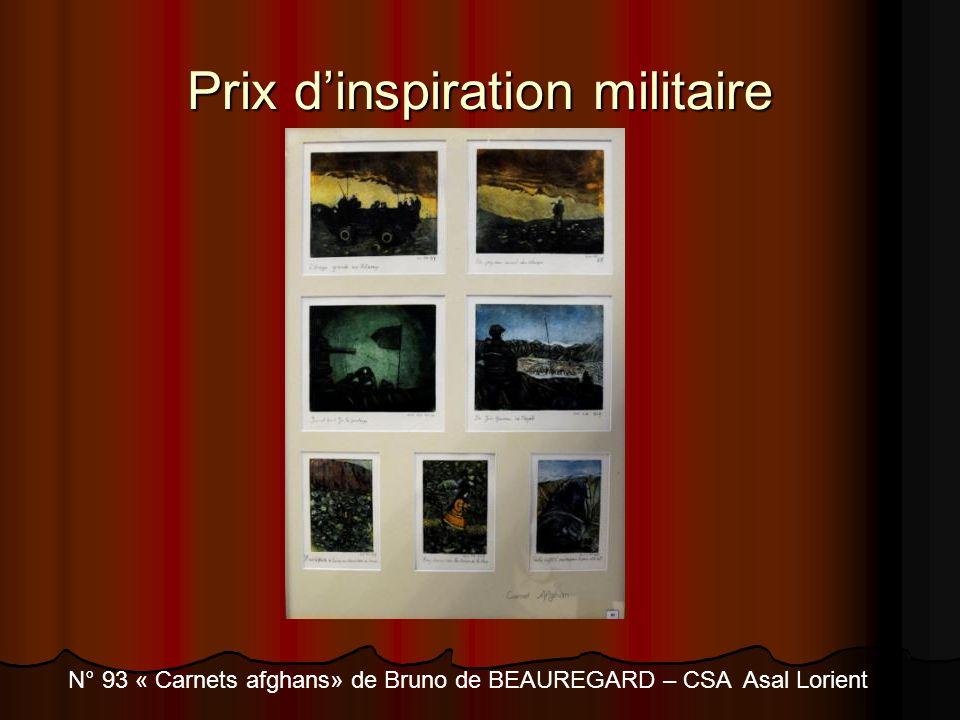 Prix dinspiration militaire N° 93 « Carnets afghans» de Bruno de BEAUREGARD – CSA Asal Lorient