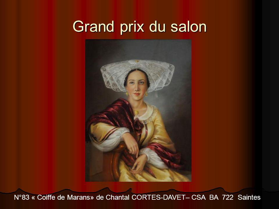 Grand prix du salon N°83 « Coiffe de Marans» de Chantal CORTES-DAVET– CSA BA 722 Saintes