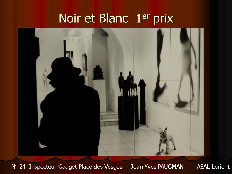 Noir et Blanc 1 er prix N° 24 Inspecteur Gadget Place des Vosges Jean-Yves PAUGMANASAL Lorient