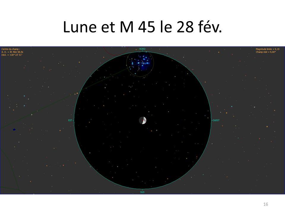 Lune et M 45 le 28 fév. 16