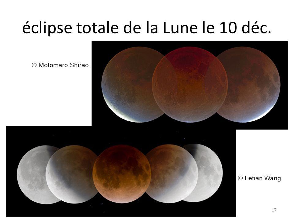 éclipse totale de la Lune le 10 déc. 17 © Motomaro Shirao © Letian Wang