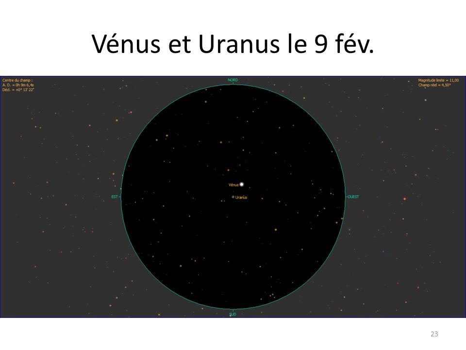 Vénus et Uranus le 9 fév. 23