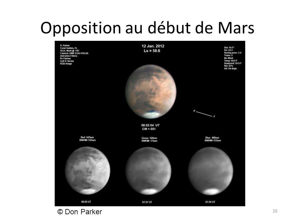 Opposition au début de Mars 26 © Don Parker
