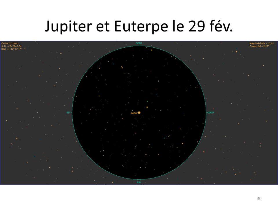 Jupiter et Euterpe le 29 fév. 30