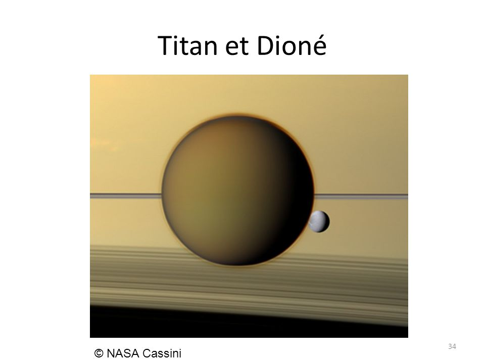 Titan et Dioné 34 © NASA Cassini