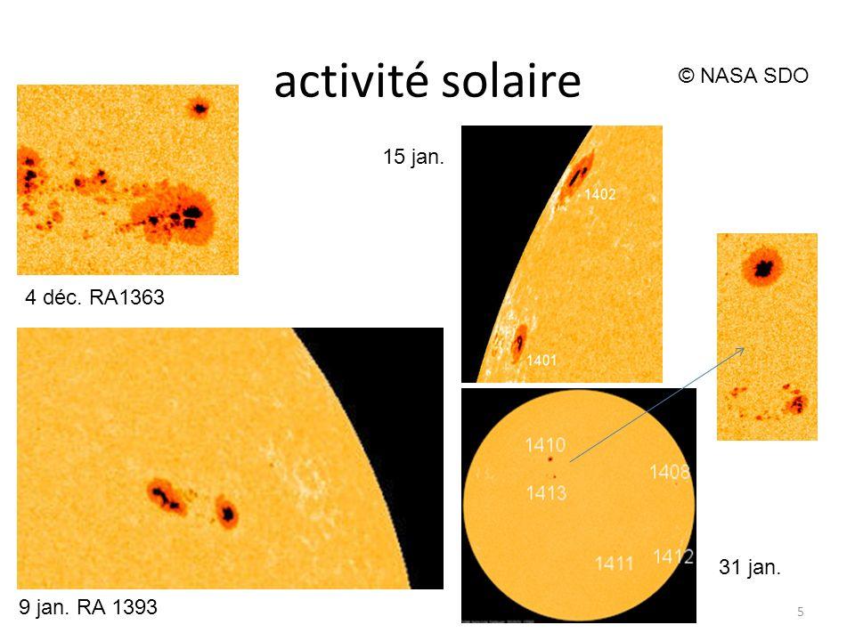 activité solaire 6 © NASA SDO AR 1402 23 jan. M9 © Rob Stammes