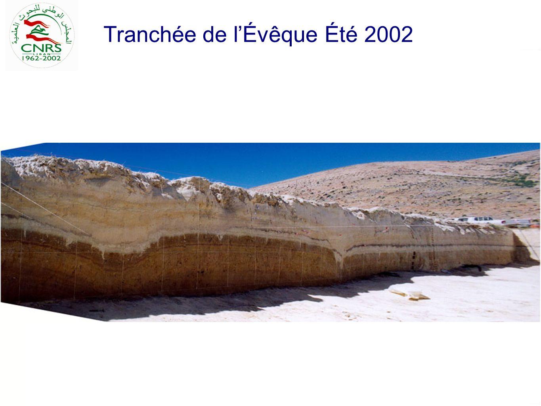 Tranchée de lÉvêque Été 2002