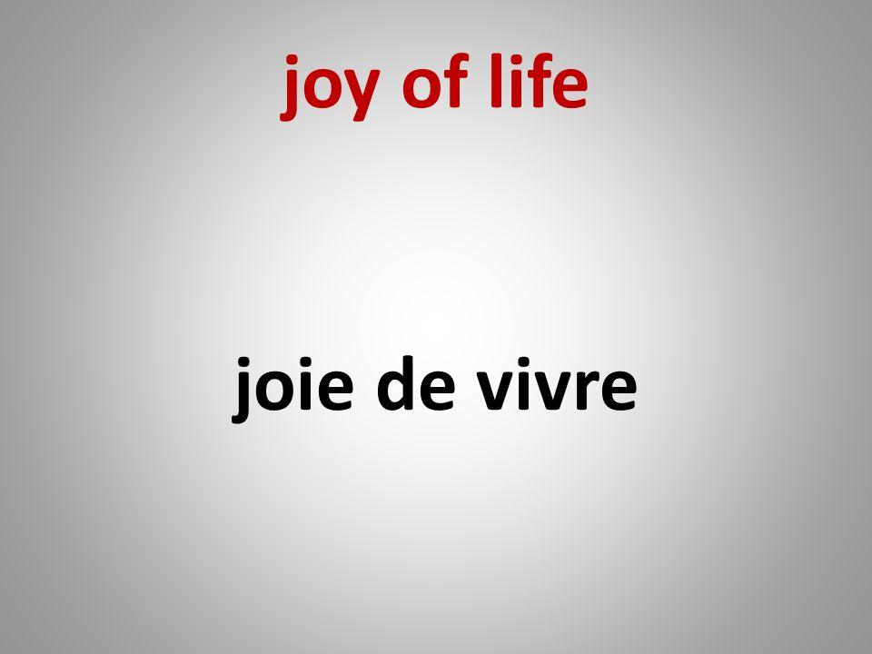 joy of life joie de vivre