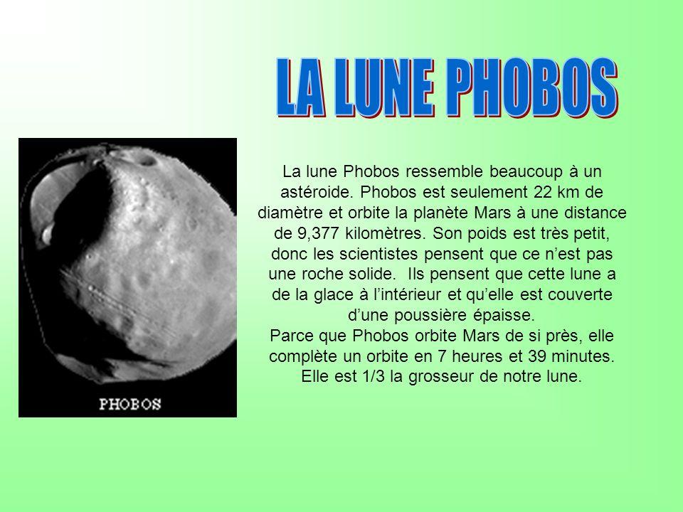 La lune Phobos ressemble beaucoup à un astéroide.