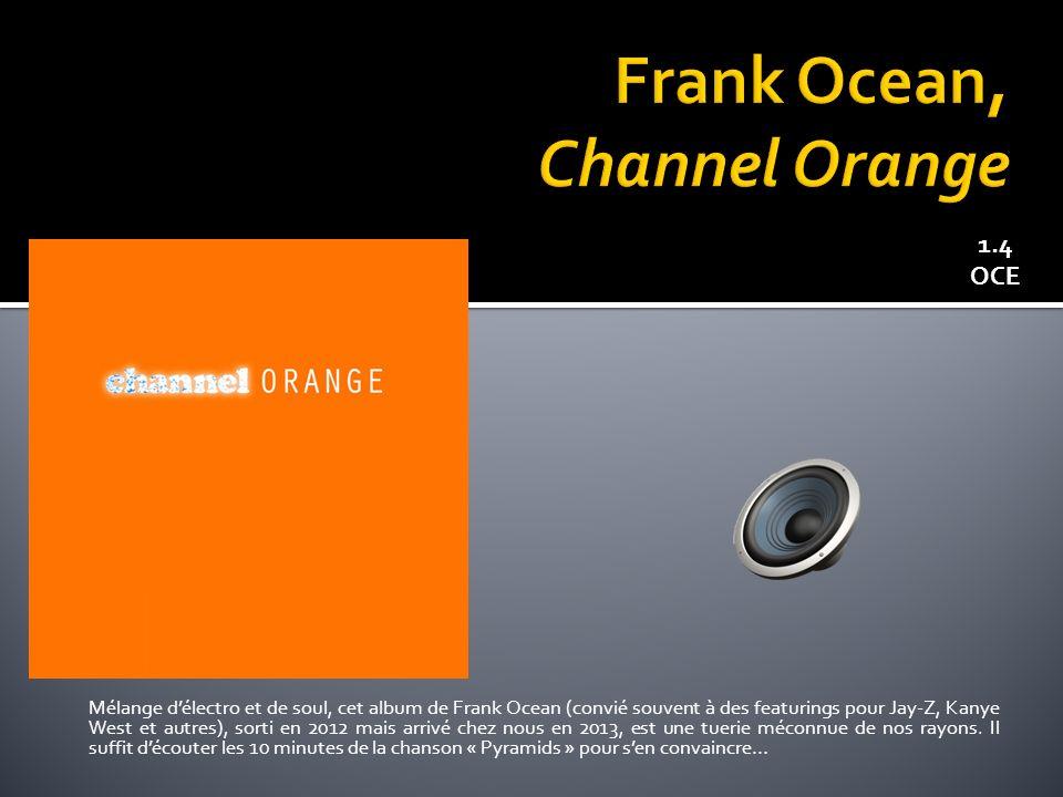 Mélange délectro et de soul, cet album de Frank Ocean (convié souvent à des featurings pour Jay-Z, Kanye West et autres), sorti en 2012 mais arrivé chez nous en 2013, est une tuerie méconnue de nos rayons.