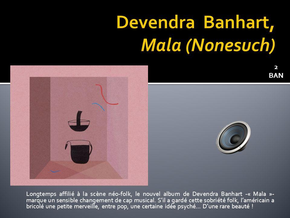 Longtemps affilié à la scène néo-folk, le nouvel album de Devendra Banhart -« Mala »- marque un sensible changement de cap musical.
