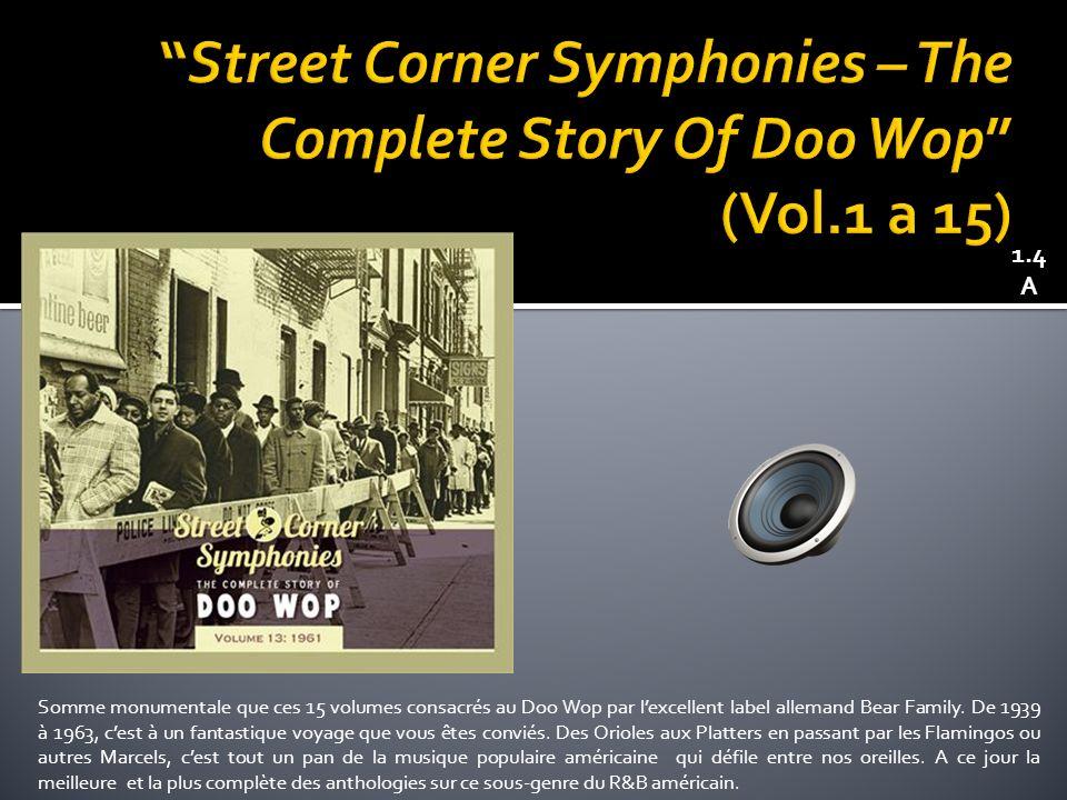 Somme monumentale que ces 15 volumes consacrés au Doo Wop par lexcellent label allemand Bear Family.