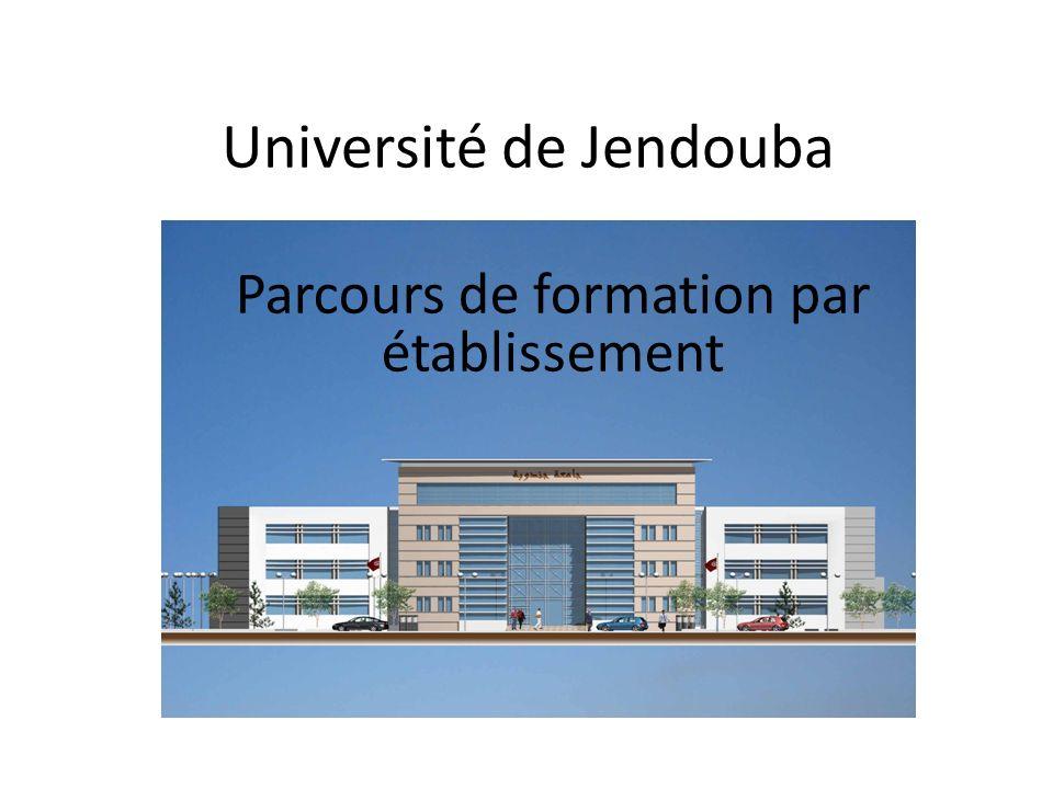 Université de Jendouba Parcours de formation par établissement