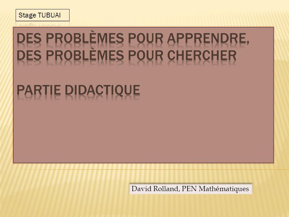 Un problème complexe est un problème dont la résolution nécessite la mobilisation de plusieurs catégories de connaissances.