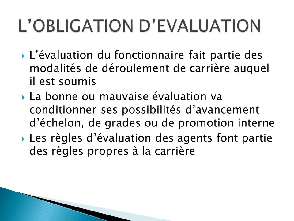 On assiste donc à la contractualisation de lemploi public qui seule permet lévaluation sur la performance.
