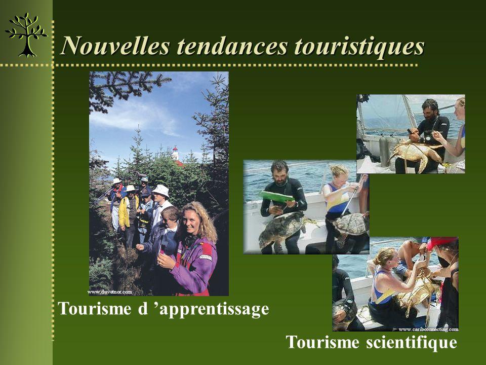 Nouvelles tendances touristiques Tourisme scientifique www.caribconnecting.com Tourisme d apprentissage www.duvetnor.com