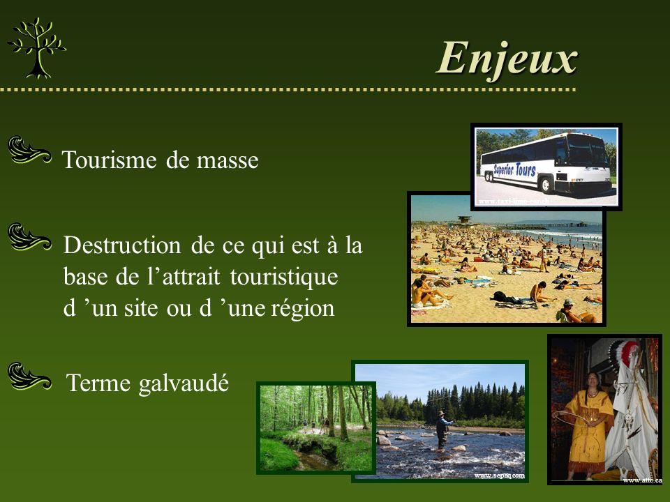 Pérennité Éthique Autant pour les promoteurs et les intervenants que pour les touristes Équité 3 principes du tourisme de nature durable